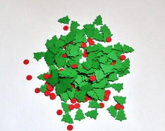 Christmas Tree Confetti - Christmas Confetti - Confetti - Christmas Party - Christmas Decoration - Christmas Tree - Green - Red