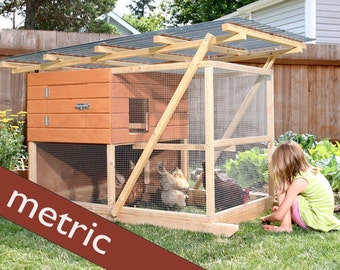 The Garden Ark Mobile Chicken Coop Plan eBook (PDF), Instant Download, Metric Units (Millimeters)