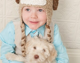 Puppy Dog Children's Character Hat Sizes Newborn to Adult