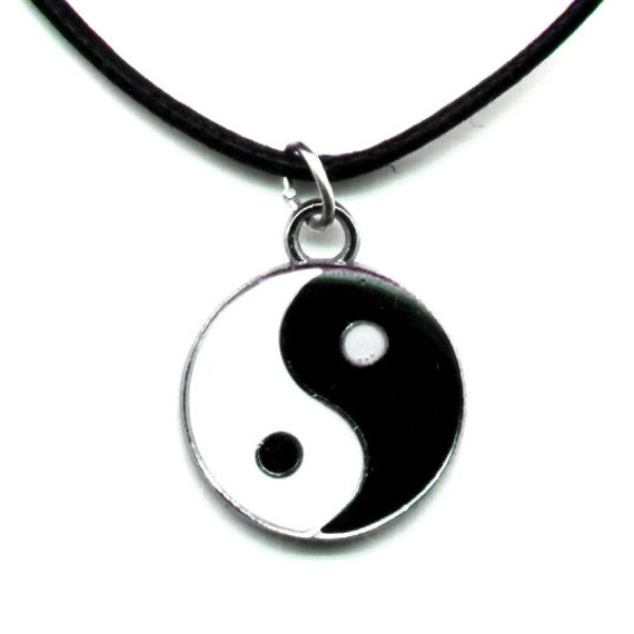 yin yang necklace jewelry pendant adjustable made yin and
