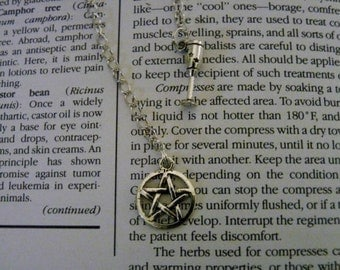 Wicca Star Pentagram and a Chalice Charms - Bookmark Jewelry