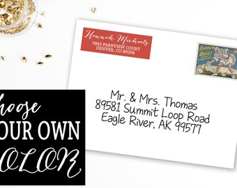 Personalized and Customizable Address Labels: Bombshell Color