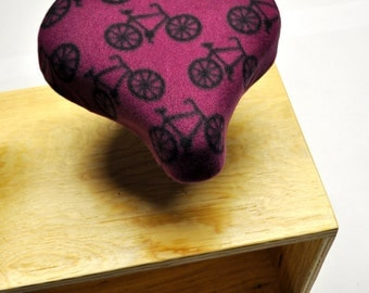 Purple Bikes Bicycle Seat Cover