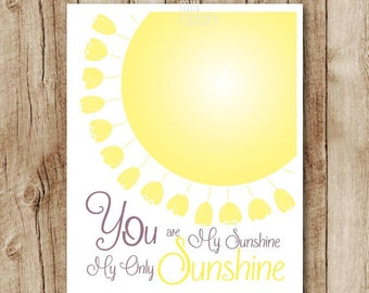 you are my sunshine download love quote poster printable, sunshine poster pdf yellow nursery printable wall art jpg instant digital download