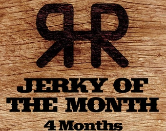 Jerky of the Month - 4 Month Subscription, Gourmet Hand Carved Artisan,Gift for Men