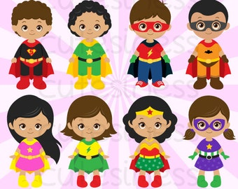 African American Superhero Clipart, Superhero Clipart, Supergirl Clipart