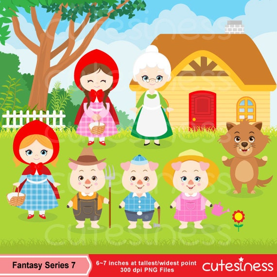 Little Red Riding Hood Clipart Little Red Clipart Three