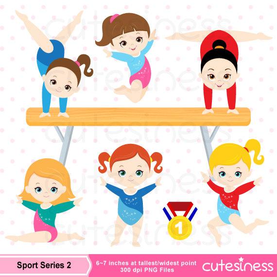 Gymnastic Clipart, Gymnastic Clip Art, Gymnastic Girl Clipart, Gymnast ...