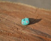 Bulabasaur Inspired Earring Post in Polymer Clay from Pokemon - Single
