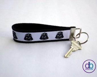 Darth Vader Inspired Ribbon Keychain