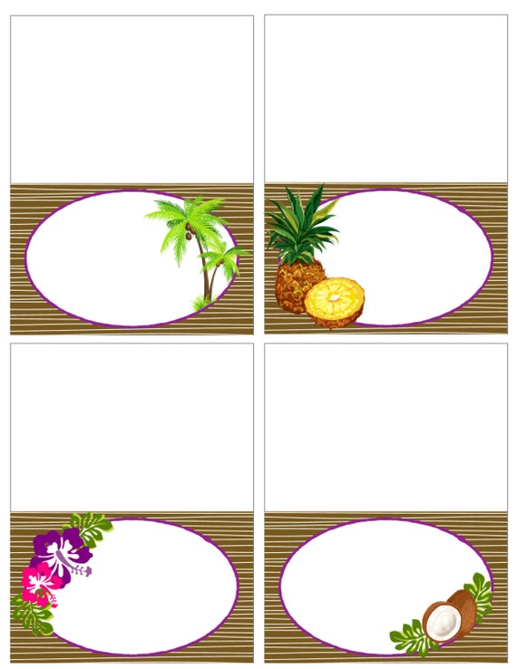 items similar to printable vintage hawaiian luau food. Black Bedroom Furniture Sets. Home Design Ideas
