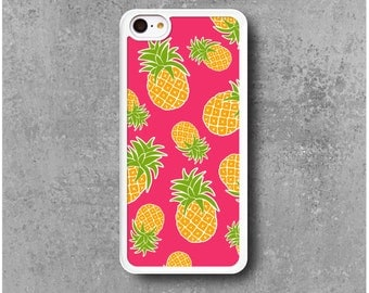 Case iPhone 5C Pink Pineapple + Free shipping
