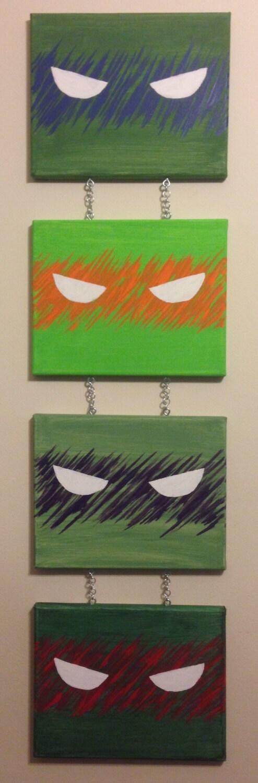 Teenage Mutant Ninja Turtles Wall Art W Raphael Donatello