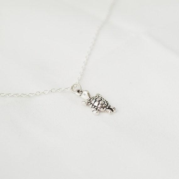 Delicate, Minimal Necklace, Turtle Necklace