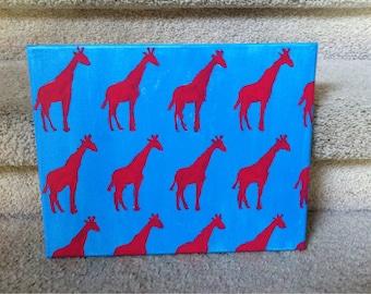 Preppy Giraffe Canvas