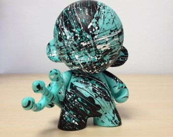 4in Munny with Trident hand painted by emKel