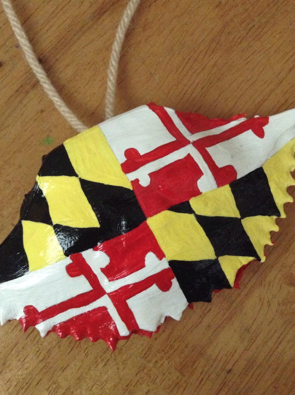 Maryland Flag Crab Koozie Maryland Flag Crab Shell