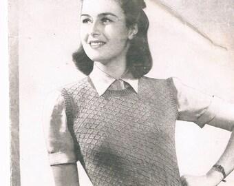 Knitting Pattern Sleeveless Pullover : Sleeveless pullover Etsy