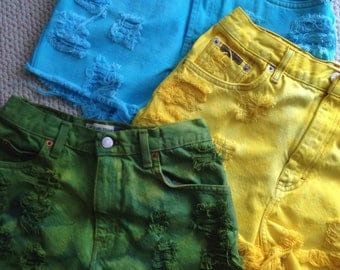 Custom Choose Any Color High Waisted Shorts