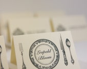 Seating place cards | Custom place cards | Personalized dinner table