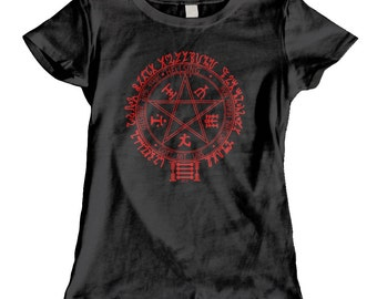 Hellsing Inspired Women's fitted tee - Black or Red