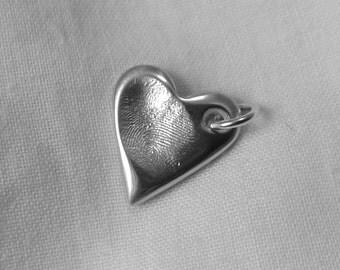 FINGERPRINT CHARM Personalized Silver Fingerprint Jewellery Charm Pendant