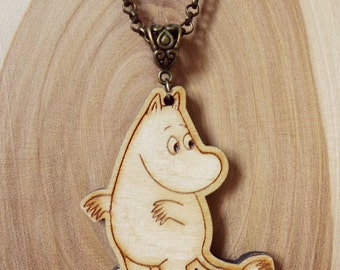 Wooden Moomin Necklace (Moomintroll)