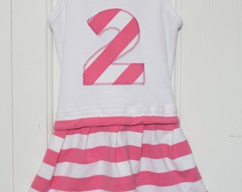 Personalized embroidered birthday dress