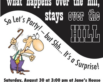 Over the Hill Party Invitation