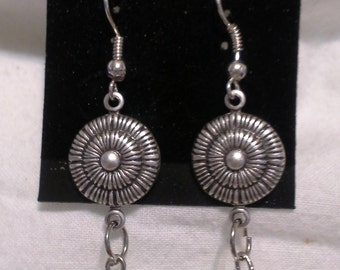 Etruscan Inspired Pearl Earrings = E 109