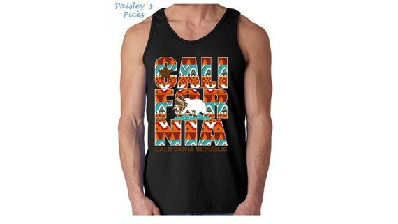 Tribal Pattern Mens Tank Top