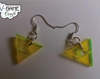 Triforce earrings based on the Legend of Zelda