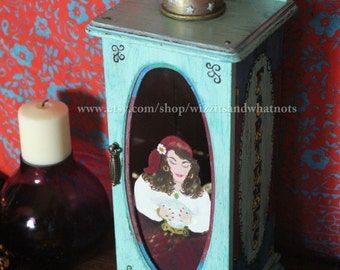 Gypsy Fortune Teller Hand Painted Jewelry Box OOAK