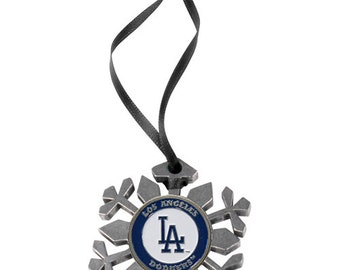 Los Angeles Dodgers Snowflake Christmas Ornament
