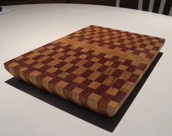 Cutting board wood oak and sipo