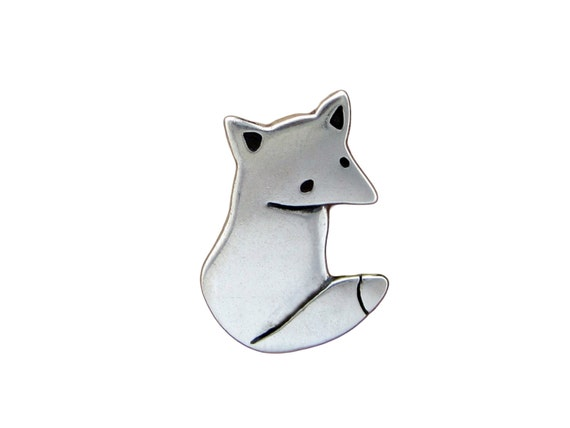 Sterling Wild Fox Necklace - Silver Fox Pendant