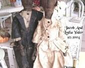 Primitive Doll Pattern PDF E-Pattern epattern Amish Cloth Fabric Sewing Wedding Folk Art Veenas Mercantile