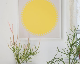 SunScreen Print - brightest yellow art print