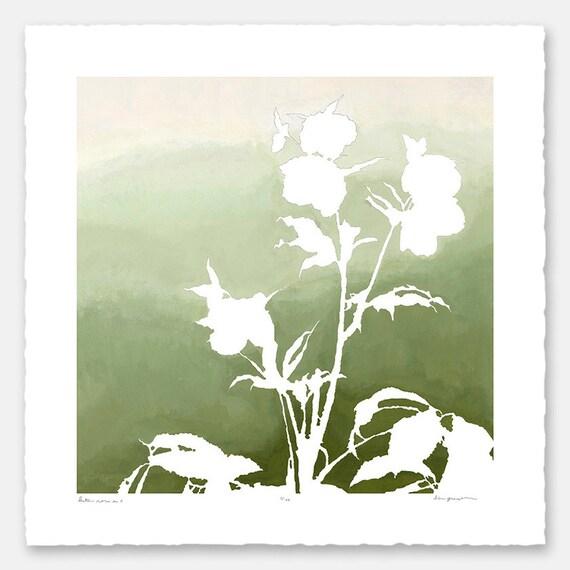 limited edition botanical print with hand torn edges lenten. Black Bedroom Furniture Sets. Home Design Ideas
