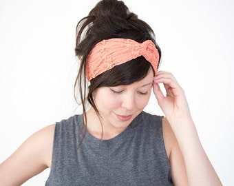 Turban Headband Coral Lace