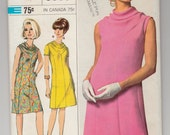 """Vintage Sewing Pattern Simplicity 6908 Ladies' Designer A-line Dress 36"""" Bust - Free Pattern Grading E-book Included"""