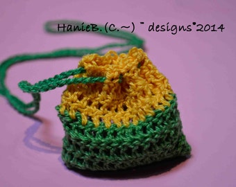 Pouch bag  Crochet for Lucky Charms,Sachets for Closet or Drawers.  Kids, Teens, Adults