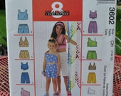 McCall's 3602 - Easy Girls' Summer Play Clothes - 8 Looks in One - Mix & Match - Girls and Tweens Sizes 7 8 10 - Beginner - UNCUT