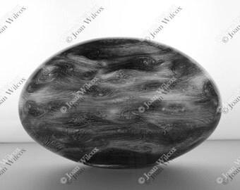 Oval Corning Glass Sculpture Sphere Modern Fine Art Photography Original Print