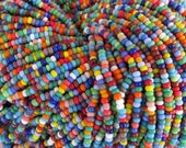 8/0 Opaque Color Mixed Czech Glass Seed Bead Strand (CW61)