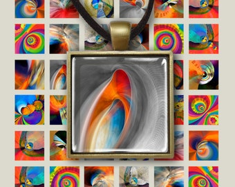 """1 x 1 inch and 1.5""""x1.5"""" Images MODERNA print-it-yourself Digital Collage Sheet Printable Download for pendants magnets bezel trays ArtCult"""