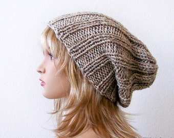 Slouchy Beanie Pattern, Knitting PATTERN, Knit Hat Pattern, Hat Patterns, Slouchy Hat Pattern, Slouch Hat Pattern, Slouch Beanie Pattern