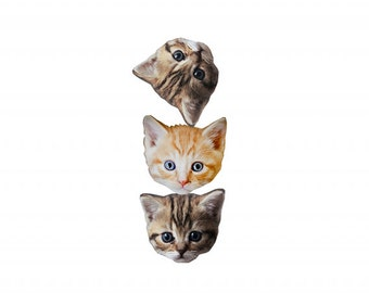 cat-themed wall art: kittystack. limited edition DIY giclee print