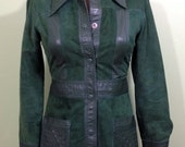 RESERVED for AMSTERDAM Vintage-Vintage Green Suede Jacket