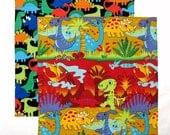 Cloth Napkins, Kids Lunchbox Napkin, School Lunch Napkins, Dinosaur Fabric Napkins, Dinosaur Gift, Set of 2
